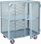 Mobile Storage Locker With 1 Center Shelf - 24''W x 48''D [SC-2448-6PPY-LGC]