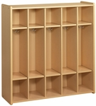 2000 Series 5 Preschool Size Compartment Lockers with Double Hooks [2433A-TOT]