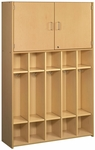 2000 Series Preschool 5 Student Compartment Lockers with Locking Storage Cabinet [2431A73-TOT]