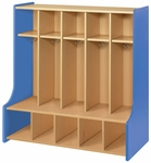2000 Series Preschool Size 5 Unit Seat Locker with Double Hooks [2425A-TOT]