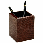 2000 Series Crocodile-Embossed Leather - Pencil Cup [A2010-FS-DAC]