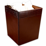 2000 Series Crocodile-Embossed Leather - Waste Basket [A2003-FS-DAC]