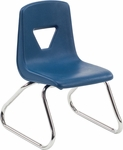 2000 Series Sled Base Stack Chair with 12''H Seat - 16.25''W x 15.87''D x 21.12''H [2612-VCO]