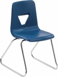 2000 Series Sled Base Stack Chair with 18''H Seat - 20.25''W x 21''D x 30.5''H [2618-VCO]