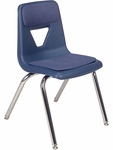 2000 Series Stack Chair with 18''H Seat and Fabric Pads - 18.75''W x 20''D x 30''H [2018P-VCO]