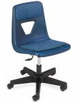 2000 Series Navy Task Chair with Blue Fabric Pads [2260PGC-VCO]