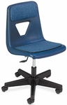 2000 Series Navy Task Chair with Blue Fabric Pads - 25''W x 25''D x 27.62''H - 32.63''H [2260PGC-VCO]