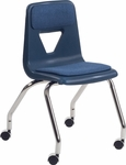 2000 Series Upholstered Mobile Chair with 18''H Seat - 18.63''W x 21''D x 30''H [2050P-VCO]
