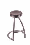 Alpha 25'' Stainless Steel Finish Swivel Counter Height Stool with Dark Cherry Maple Wood Seat [200125SSDCMPL-FS-HOB]