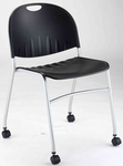 2100 Series Steel Stack Chair with Casters [CS2100SL-IFK]
