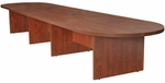 Legacy 216''W Modular Racetrack Wooden Conference Table with 2 Power Data Grommets - Cherry [LCTRT21652CH-FS-REG]