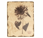 Distressed Painted Sunflower Wooden Floral 15.75''H Wall Art - Cream and Brown [2199-FS-PAS]
