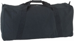 22 oz Canvas Zippered Duffle Bag in Black [CB3314BK-FS-CHS]