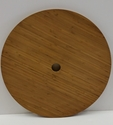 22'' Round Bamboo Table Top with Umbrella Hole