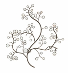 Circular Cut Out Metal Floral 33''H Wall Decor with Capiz Shell Flowers - Bronze and White [2256-FS-PAS]