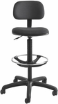 23'' H Extended Height Economy Drafting Stool - Black [3390BL-FS-SAF]
