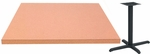 24'' x 42'' Laminate Table Top with Self Edge and Base - Standard Height [ATE2442-T2430M-SAT]