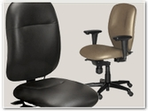 24/7 Leather Intensive Use Office Chairs