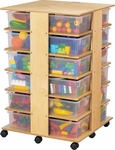 Mobile 24 Cubbie Tower Storage Unit [03649JC-JON]