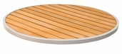 24''D Synthetic Teak Outdoor Table Top