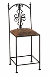 Gothic 24'' Wrought Iron Counter Stool with Upholstered Seat [GMC-2024-G-FS-GCM]