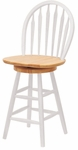 24''H Arrow-Back Windsor Stool with Swivel Seat [53624-FS-WWT]
