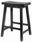 24''H Bar Stool with Saddle Seat [20084-FS-WWT]