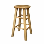 24''H Barstool with Square Legs-Set of 2 [83224-FS-WWT]