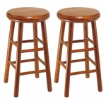 24''H Barstool with Swivel Seat-Set of 2 [75234-FS-WWT]
