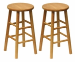 24''H Beveled Seat Bar Stool-Set of 2 [81784-FS-WWT]