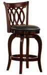 24'' H Motif Design Swivel Barstool With Vinyl Cushion [1133-24S-FS-HOM]