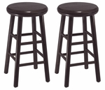24''H Swivel Seat Bar Stool-Set of 2 [92794-FS-WWT]