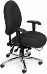 24 Hour Big & Tall Computer Task Chair - Black [247-206-FS-MFO]