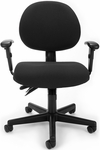 24 Hour Task Chair with Arms - Black [241-AA-206-FS-MFO]