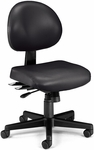24 Hour Anti-Microbial and Anti-Bacterial Vinyl Task Chair - Black [241-VAM-606-FS-MFO]