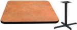 24'' Square Laminate Table Top with Vinyl T-Mold Edge and Base - Standard Height [ATS2424-T2222M-SAT]