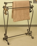 Oil Rubbed Metal 33.5''H Quilt Rack with Scroll Work - Bronze [1218-FS-PAS]