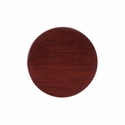 24'' Round Mahogany Resin Table Top