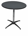 24'' Round Elite Cocktail Series Resin Table with 30'' Chrome Finished Column [214200-MES]