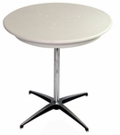24'' Round Elite Cocktail Series Blow Molded Table Top with 30'' Chrome Finished Column [214200-MES]
