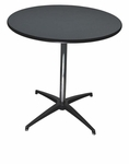 24'' Round Elite Cocktail Series Resin Table with 42'' Chrome Finished Column [215200-MES]