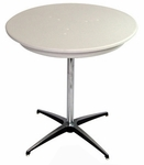 24'' Round Elite Cocktail Series Blow Molded Table Top with 42'' Chrome Finished Column [215200-MES]