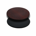 24'' Round Table Top with Reversible Black or Mahogany Laminate Top
