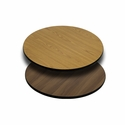 24'' Round Table Top with Reversible Natural or Walnut Laminate Top