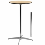 24'' Round Wood Cocktail Table with 30'' and 42'' Columns [BFDH-24PEDTBLRD-TDR]