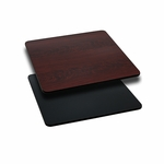 24'' Square Table Top with Reversible Black or Mahogany Laminate Top [BFDH-2424BKMAHSQ-TDR]