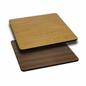 24'' Square Table Top with Reversible Natural or Walnut Laminate Top