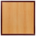 24'' Square Two-Tone Resin Cherry Table Top with Mahogany Edge
