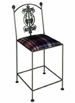 Vineyard 24'' Wrought Iron Counter Stool with Upholstered Seat [GMC-3024-7-FS-GCM]
