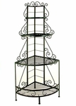 French 25''W x 83''H Wrought Iron Corner Baker's Rack [GMC-244CFA-FS-GCM]